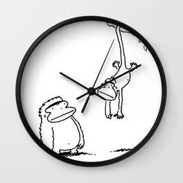 Ape Meets Monkey Wall Clock