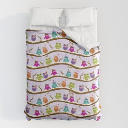 winter owls Comforters