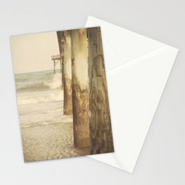 Fishing Pier Surf City Beach Topsail Island NC Lomo Vintage Stationery Cards