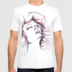 Passion MEDIUM White Mens Fitted Tee