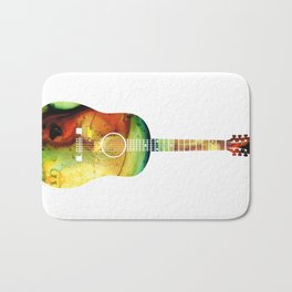 Acoustic Guitar - Colorful Abstract Musical Instrument Bath Mat