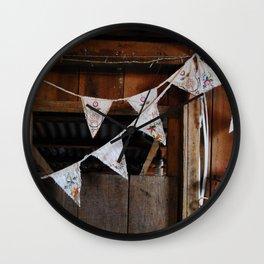 Bunting1 Wall Clock