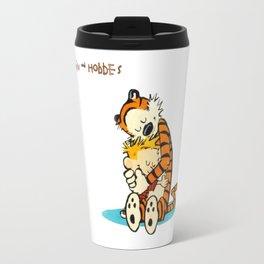 hug calvin and hobbes Travel Mug