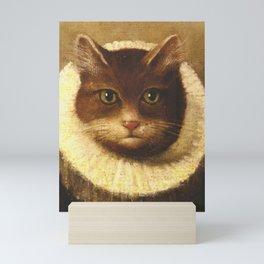 Cat In A Ruff Cute Victorian Art Mini Art Print
