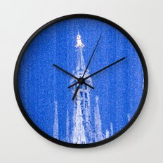 Night of Blue over Milan Wall Clock