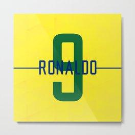 Ronaldo 9 Metal Print