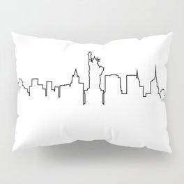 One Line - New York Skyline Pillow Sham