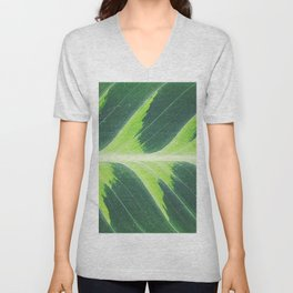 Leaf green Unisex V-Neck