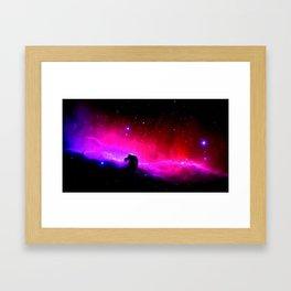 Galaxy : Horsehead nEbUlA Pink Red Purple Framed Art Print