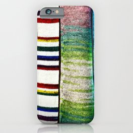 Abstract Of Colorful Knitted Textile iPhone Case