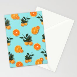 Oranges in Blue Stationery Cards