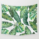 Jungle Leaves, Banana, Monstera #society6 by wheimay