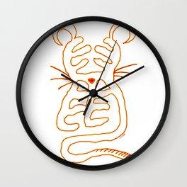Chinese Zodiac : Rat Wall Clock