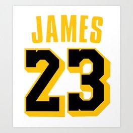 James 23 vector art Art Print
