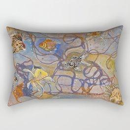 Connecting Goldfishes Rectangular Pillow