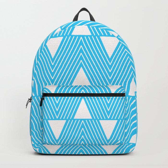 Triangles- Teal Triangle Pattern for hot summer days-Mix & Match Backpack
