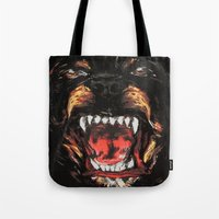 givenchy Tote Bags featuring Givenchy Dogface by Beauti Asylum