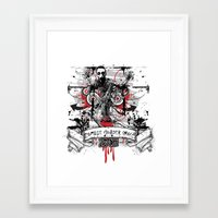 zombie Framed Art Prints featuring Zombie by DaeSyne Artworks