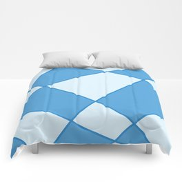 Geometric abstract - blue. Comforters