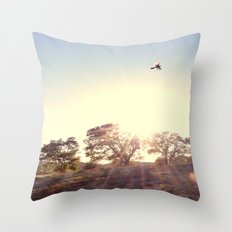 A Hawks View Throw Pillow