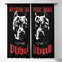 Pitbull My Personal Trainer Blackout Curtain