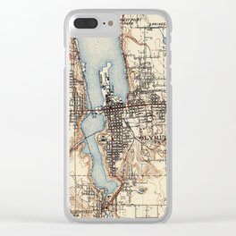 Vintage Map of Olympia Washington (1934) Clear iPhone Case