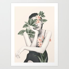 natural beauty-collage 3 Art Print