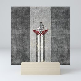 poloplayer grey Mini Art Print