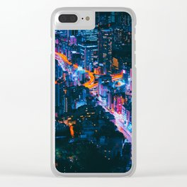 Cityscape Night View Clear iPhone Case
