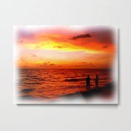 Sunset at Marco Island  Metal Print