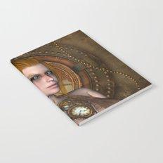 Steampunk, amazing steampunk women Notebook