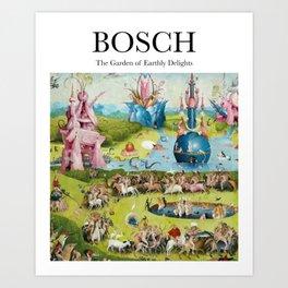 Bosch - The Garden of Earthly Delights Art Print