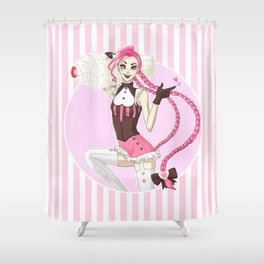 Sweet Tooth Jinx Shower Curtain