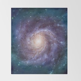 Pinwheel Galaxy Throw Blanket