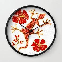Tribal Lizard Design #1 Wall Clock