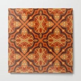 Dotted Tile: Paprika Metal Print