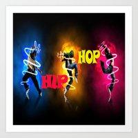 hip hop Art Prints featuring Hip Hop by ezmaya