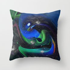 A Space Ray Throw Pillow