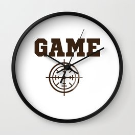 Funny Laser Tag Party T-Shirt Mode On Game on Wall Clock