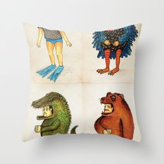 Costumes - Animalados Throw Pillow