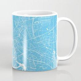 Moscow map blue Coffee Mug