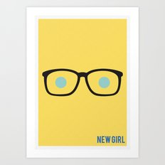 New Girl - Minimalist Art Print