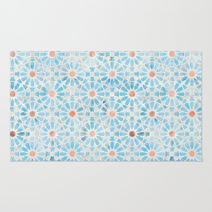 Hara Tiles Light Blue Rug
