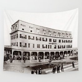 1880 Riverside Hotel, East Providence, Rhode Island Vintage Photograph Wall Tapestry