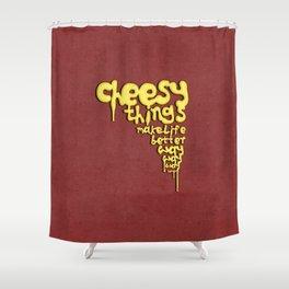 Cheesy love Shower Curtain