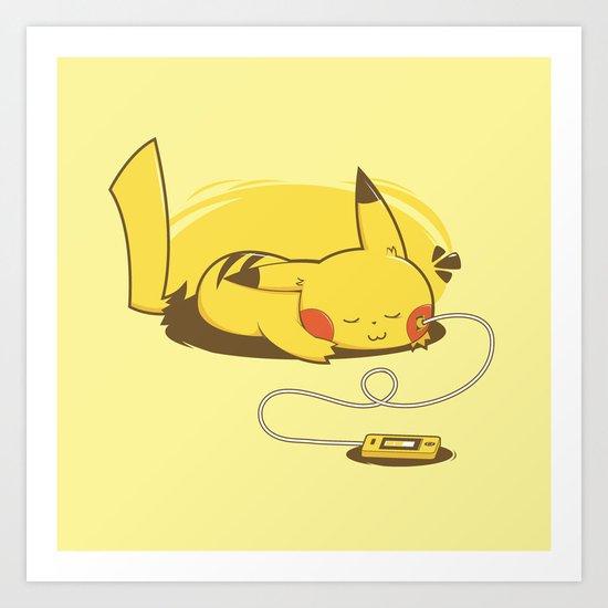 Pikacharger Art Print