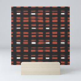 geo brush plaid Mini Art Print