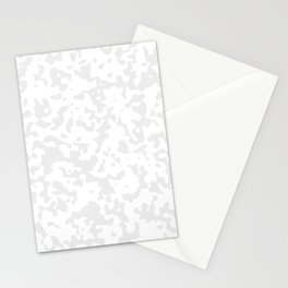 Spots - White and Pale Gray Stationery Cards