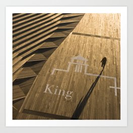 Golden King Art Print