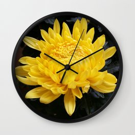 YELLOW 'MUM Wall Clock